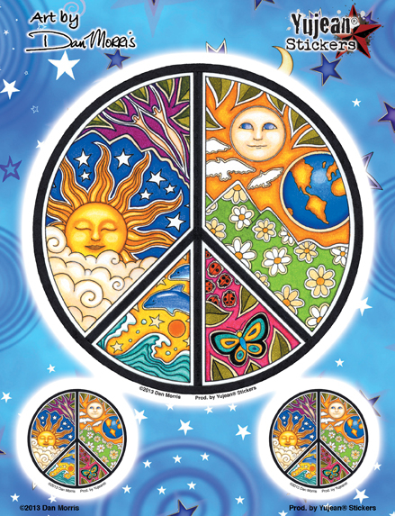 Dan Morris Peace Multi-pack | Stickers