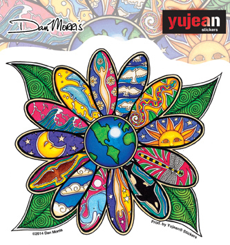 Dan Morris Earth Blossom sticker | Hippie