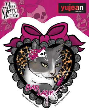 Miss Cherry Martini Lady sticker | CLEARANCE!!