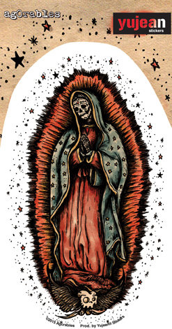 Agorables Our Lady of Guadalupe sticker | Sugar Skulls