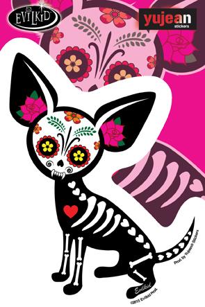 Evilkid Chihuahua Muerta Sticker | Stickers