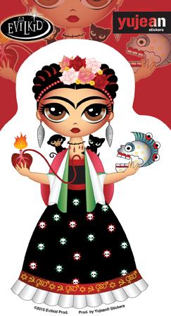 Evilkid Frida Sticker | Sugar Skulls