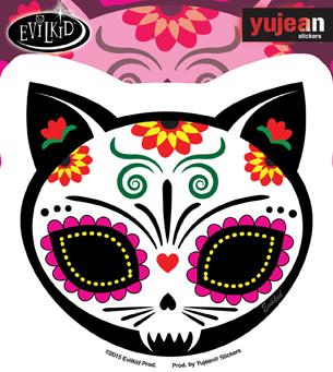 Evilkid Gato Muerto Sticker | Sugar Skulls