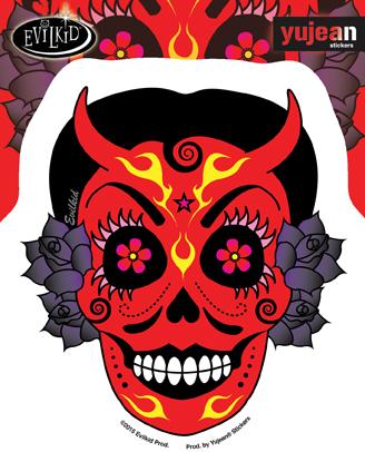 Evilkid La Diablita Sticker | Stickers