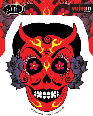 Evilkid La Diablita Sticker | CLEARANCE!!