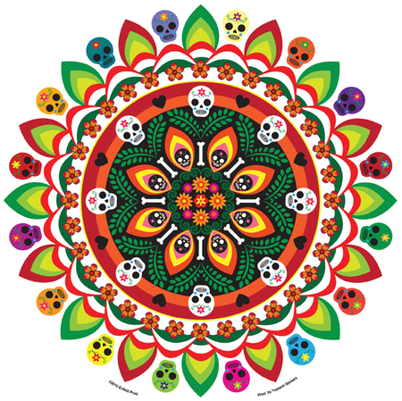 Evilkid Jumbo Muertos Mandala Sticker | Tropical