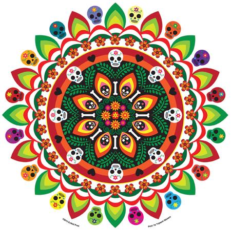 Evilkid Jumbo Muertos Mandala Sticker | Evilkid