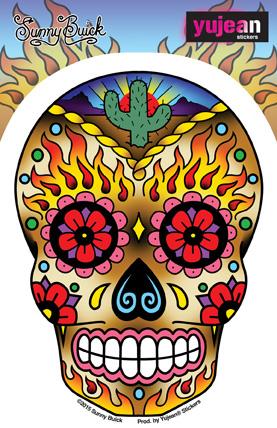 Sunny Buick Western Sugar Skull Sticker | Sugar Skulls