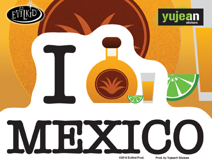 Evilkid Tequila Mexico sticker | Latino