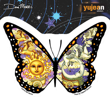 Dan Morris Chariot Butterfly Sticker | Fairies and Fantasy