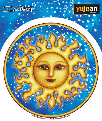 Dan Morris Starry Sun Sticker | Stickers