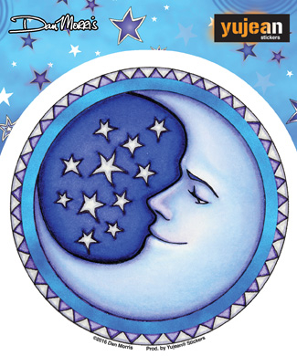 Dan Morris Starry Moon Sticker