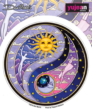 Dan Morris Celestial Yin Yang Sticker | Stickers