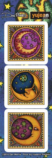 Dan Morris 3 Moons Sticker | Dan Morris