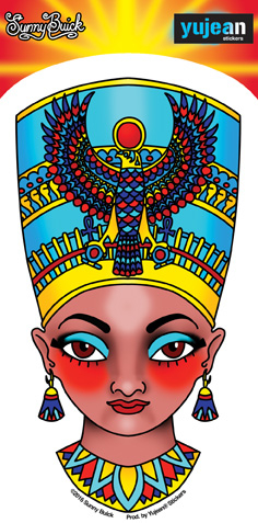 Sunny Buick Nefertiti Sticker | Sunny Buick