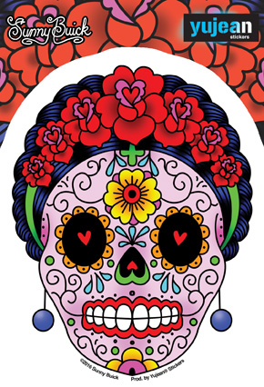 Sunny Buick Calavera Frida Sticker | Undead, Skeletons and Creatures of the Night