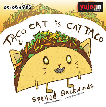 Dr. Krinkles Tacocat Sticker | Cats!
