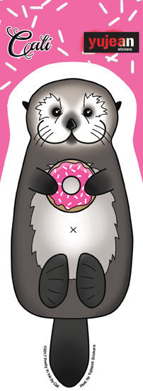Cali Otter Donut Sticker | Stickers