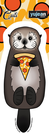 Cali Otter Pizza Sticker | Stickers