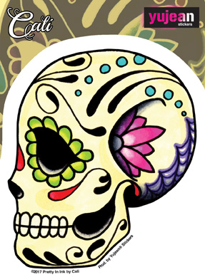 Cali Ashes Skull Sticker | Sugar Skulls