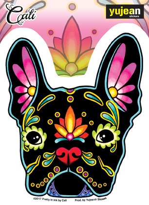 Cali French Bulldog Sticker | Sugar Skulls