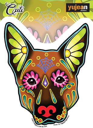 Cali German Shepherd Sticker | Sugar Skulls
