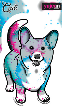 Cali Corgi Sticker | Stickers