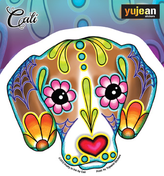 Cali's Beagle Sticker | Sugar Skulls
