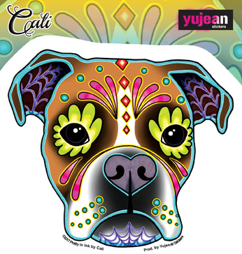 Cali's Boxer Sticker | Cali: Pretty In Ink