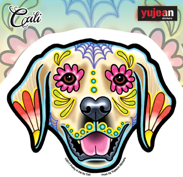 Cali's Golden Retriever Sticker | New Stuff Flyer, 2017