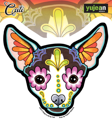 Cali's Chihuahua Sticker | Window Stickers: Clear Backing, Put Them Anywhere!