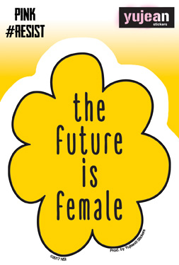 #Pink Resist Future is Female Sticker | Window Stickers: Clear Backing, Put Them Anywhere!