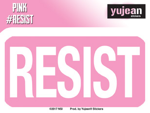#Pink Resist  Sticker | Window Stickers: Clear Backing, Put Them Anywhere!