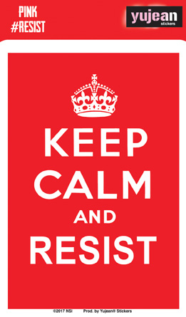 Keep Calm and Resist Sticker | Window Stickers: Clear Backing, Put Them Anywhere!