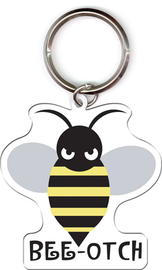 Bee-otch Rubber Keychain from Transformers