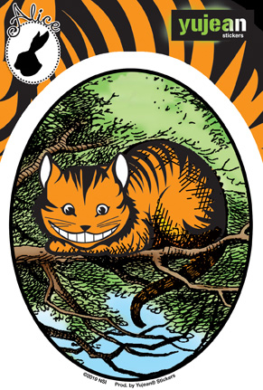 Jasmine's Cheshire Cat | Window Stickers: Clear Backing, Put Them Anywhere!