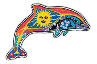 Dan Morris night/day dolphin patch | Hippie