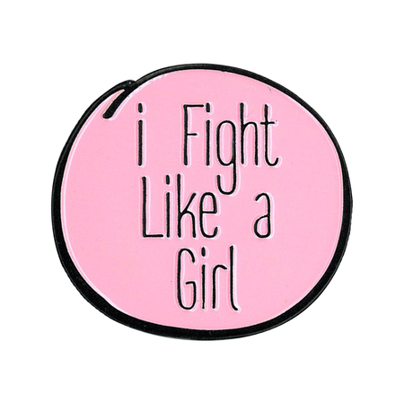 I fight Like a Girl Enamel Pin | Enamel Pins