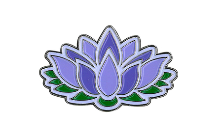 Lotus Flower Enamel Pin Peace And Eco