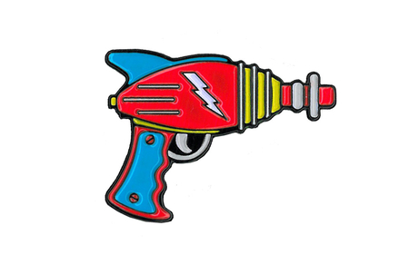 Ray Gun Enamel Pin | Retro