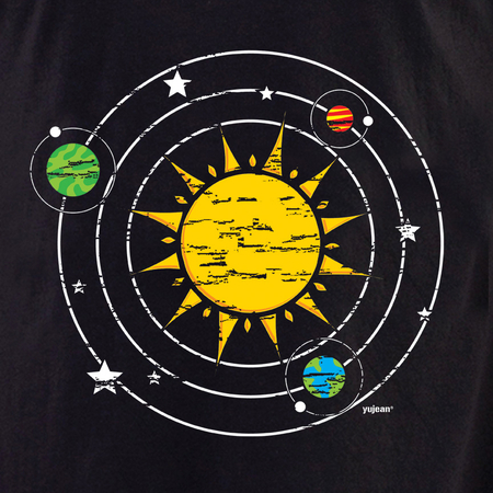 Disstressed Solar System T-shirt | T-Shirts and Hoodies