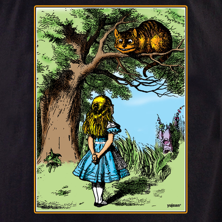 Alice and Cheshire Cat T-shirt | T-Shirts