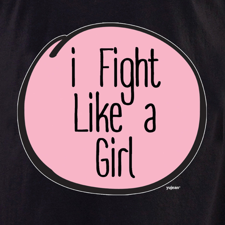 I fight like a girl T-shirt | Pink #RESIST