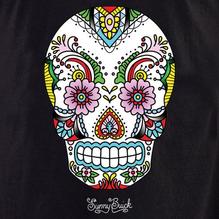 Sunny's Lace Sugar Skull Tote | Tote Bags