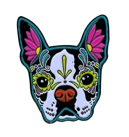 Cali's Boston Terrier Enamel Pin | Sugar Skulls