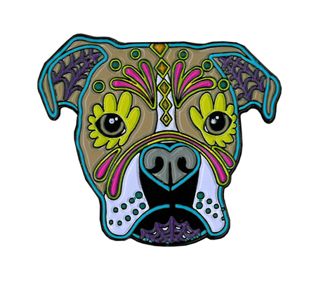 Cali's Boxer Enamel Pin | The Very Latest!!!