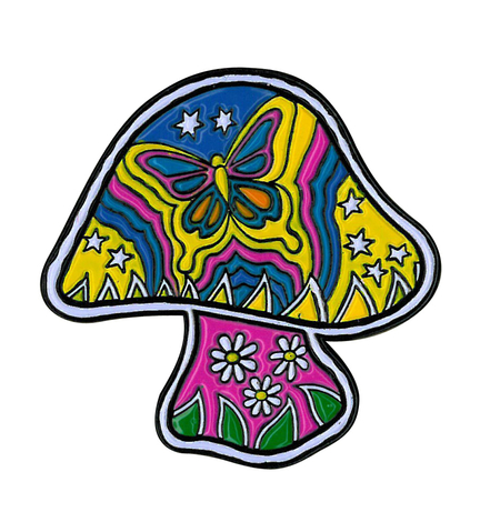 Dan Morris' Mushroom Enamel Pin | Peace and Eco