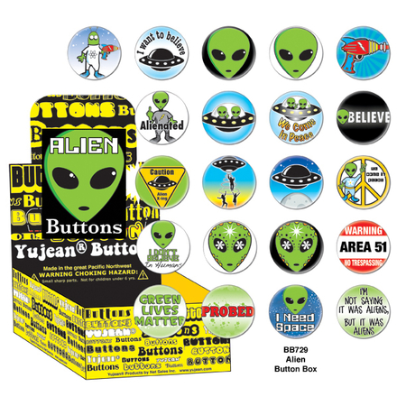 Alien Button Box | Button Boxes-WHOLESALE ONLY