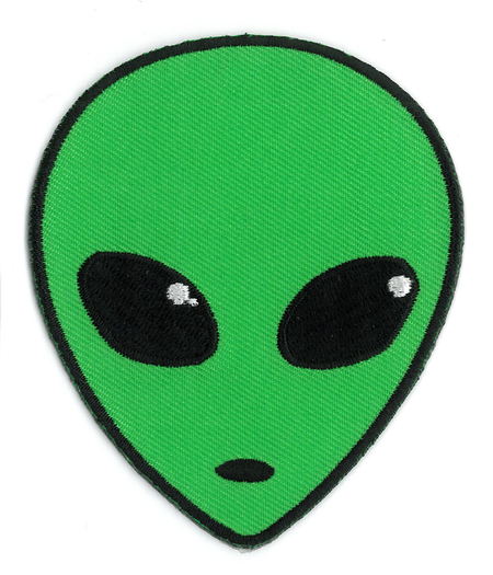 Alien Head Patch | Undead, Skeletons and Creatures of the Night