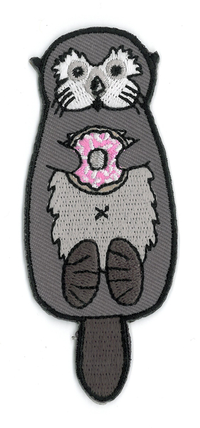 Otter Donut Embroidered Patch | Peace and Eco